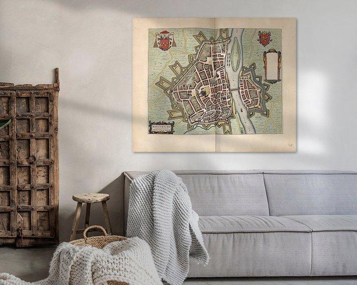 Beispiel: Maastricht Limburg, Stadtplan Joan Blaeu 1652 von Atelier Liesjes