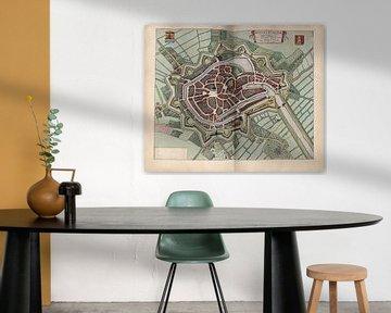 Middelburg Zeeland, Stadtplan Joan Blaeu 1652 von Atelier Liesjes