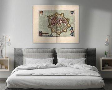 Oldenzaal, Stadtplan Joan Blaeu 1652 von Atelier Liesjes