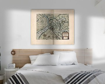 Schleuse, Stadtplan Joan Blaeu 1652 von Atelier Liesjes