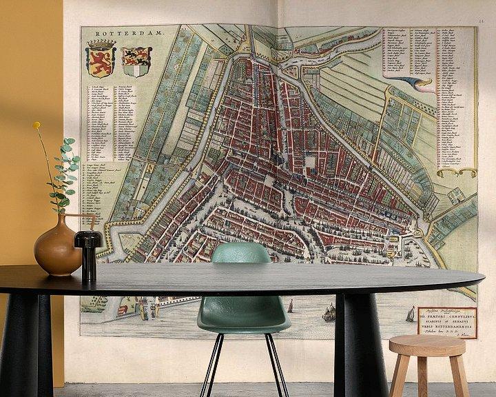 Beispiel fototapete: Rotterdam, Stadtplan Joan Blaeu 1652 von Atelier Liesjes