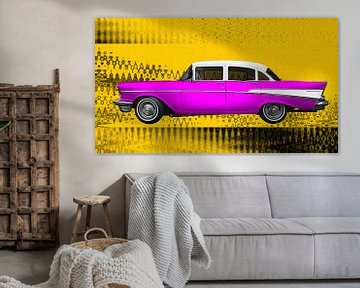 Chevrolet Bel Air 1957 in roze & geel van aRi F. Huber