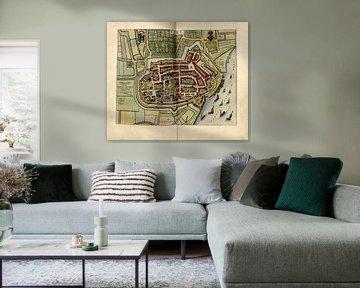 Tiel, Stadtplan Joan Blaeu 1652