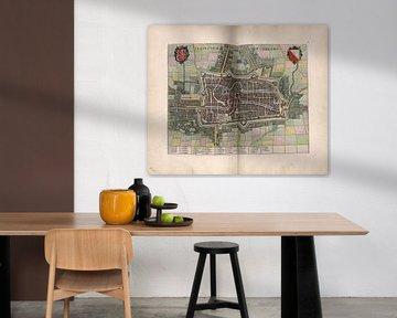 Utrecht, Stadtplan Joan Blaeu 1652 von Atelier Liesjes