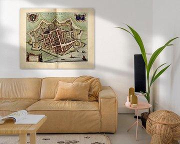 Saltbommel, Stadtplan Joan Blaeu 1652