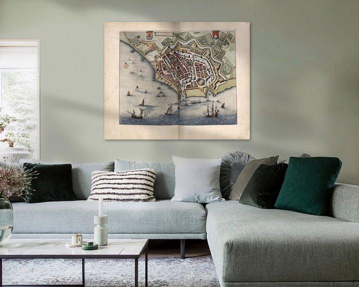 Beispiel: Vlissingen, Stadtplan Joan Blaeu 1652 von Atelier Liesjes