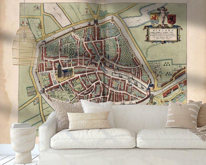 Beispiel fototapete: Zierikzee, Stadtplan Joan Blaeu 1652 von Atelier Liesjes