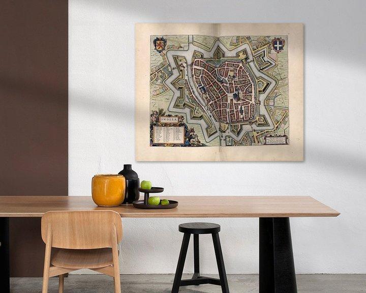 Beispiel: Zwolle, Stadtplan Joan Blaeu 1652 von Atelier Liesjes