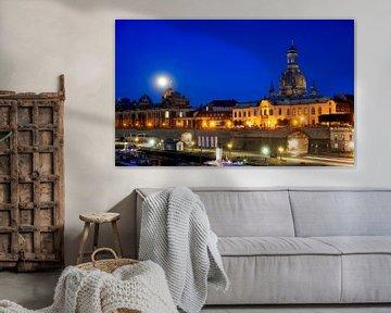 Dresden met maan