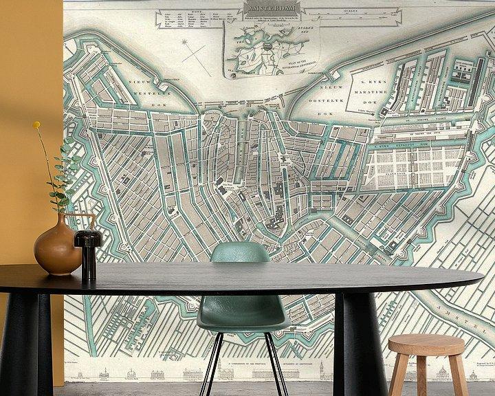 Beispiel fototapete: Amsterdam, Karte von Atelier Liesjes