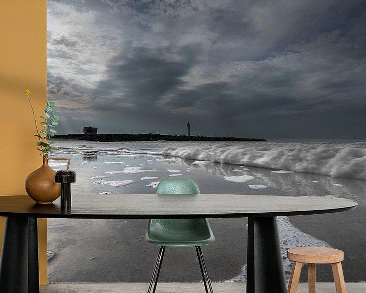 Sfeerimpressie behang: 3473 Golfslag van Adrien Hendrickx