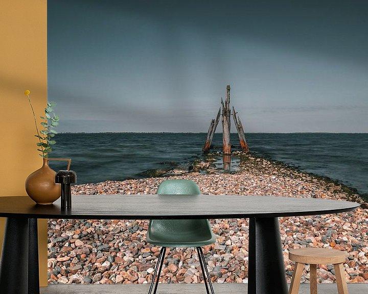 Sfeerimpressie behang: Als een paal boven water (Den Osse) van Arisca van 't Hof