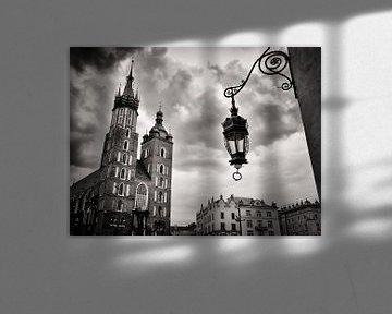 Schwarzweiss-Fotografie: Krakau – Marienkirche von Alexander Voss
