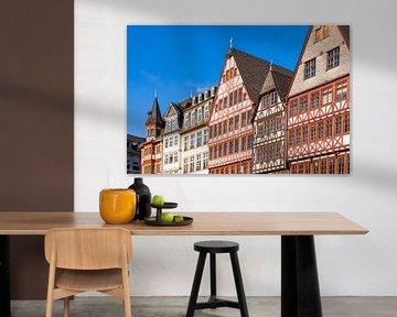 Fachwerkhäuser am Römerberg in Frankfurt am Main von Werner Dieterich