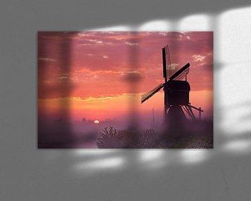 Sonnenaufgang im Alblasserwaard von Halma Fotografie