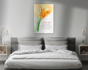 Oranje Tulp van Theodor Decker