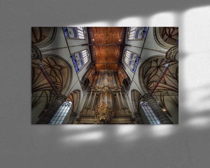 Impression: La Grande église Saint-Laurent-sur-le-Main, Alkmaar sur Mike Bing