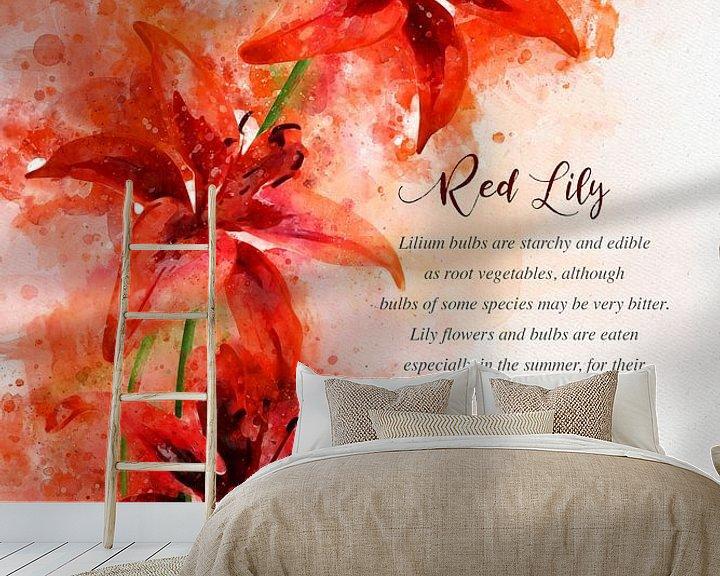 Beispiel fototapete: Rote Lilie von Theodor Decker