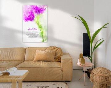 paarse tulp van Theodor Decker