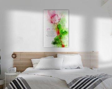 Roze Roos van Theodor Decker