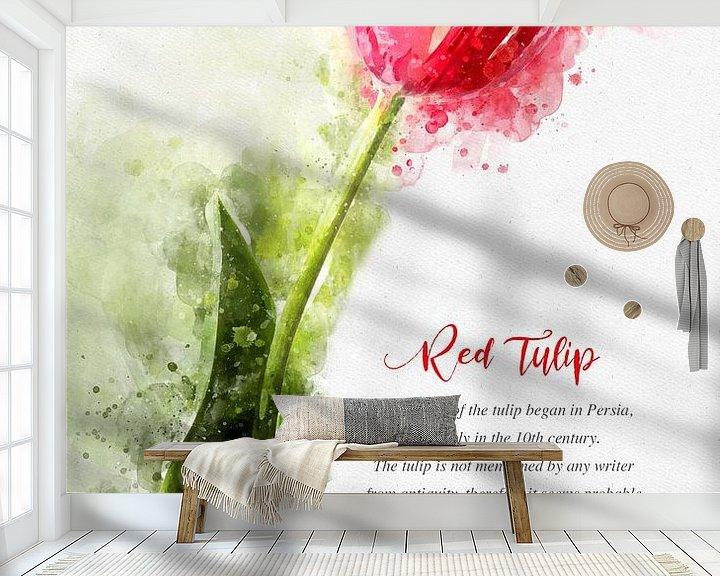 Beispiel fototapete: Rote Tulpe von Theodor Decker