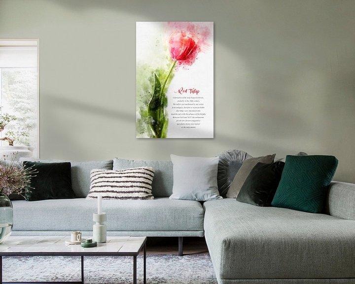 Beispiel: Rote Tulpe von Theodor Decker