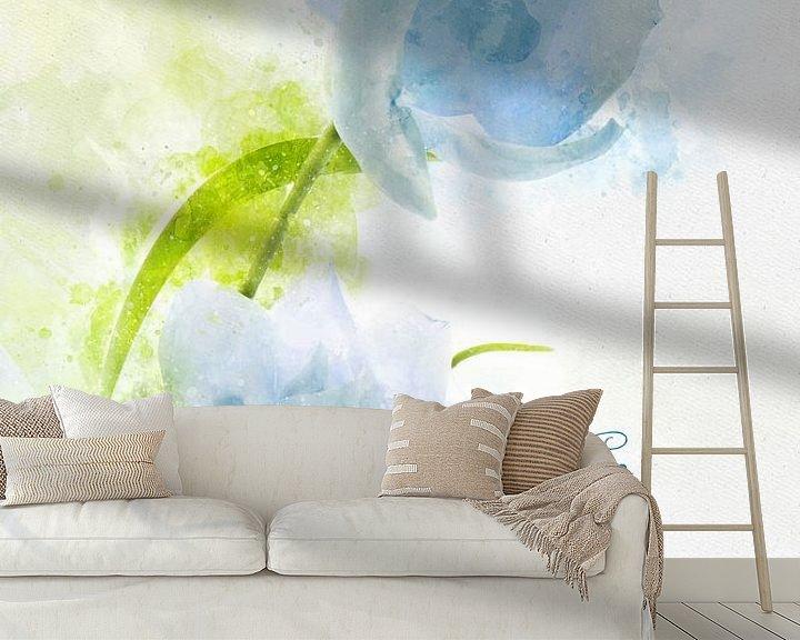 Beispiel fototapete: Weisse Magnolie von Theodor Decker