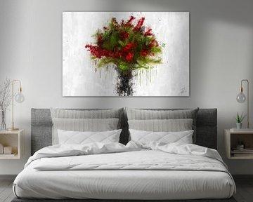 Un bouquet de baies rouges sur Theodor Decker