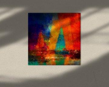 abstracte zeilen van Andreas Wemmje