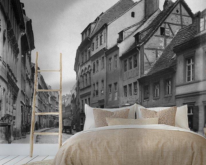 Sfeerimpressie behang: Berlijn, Petristraße, 1880 van Atelier Liesjes