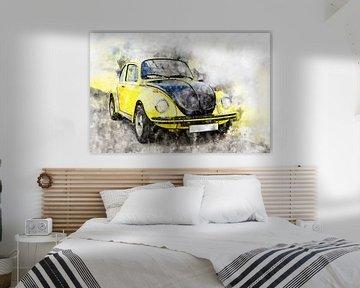 VW Käfer, Gelb-Schwarzer Renner von Theodor Decker