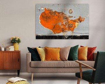 Kaart van de Verenigde Staten op een scheepsromp