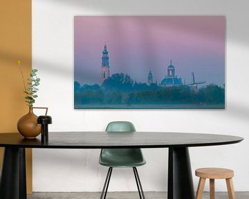 Zicht op de skyline van Middelburg van Marcel Klootwijk