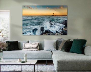 Wellen am Meer von Johan Strijckers