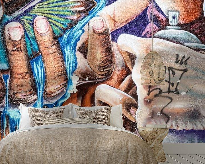 Beispiel fototapete: Buntes Straßenbild in Ecuador mit Graffiti von Francisca Snel