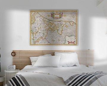 Holland, kaart 1606 van Atelier Liesjes