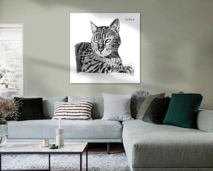 Beispiel: Ruhende Katze von Devon Leclercq