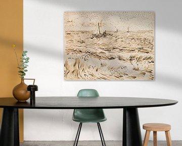 Vincent van Gogh. Fischerboote in Saintes-Maries-de-la-Mer