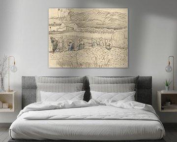 Vincent van Gogh. Landschaft mit Bäuerinnen