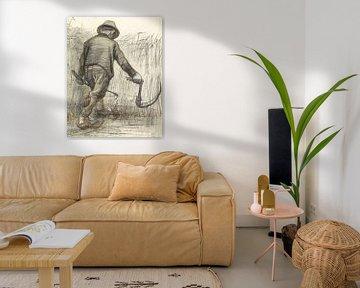 Vincent van Gogh. Weizenschneider mit Hut
