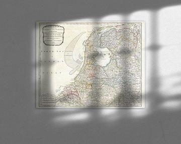Karte der Niederlande 1794 von Atelier Liesjes