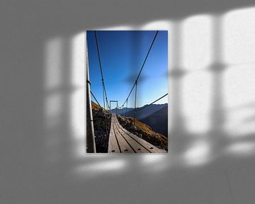 Hangbrug in de bergen van Ginkgo Fotografie