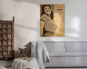 Pinup YANK : Lina Romay en t-shirt moulant et en lay large, 18 mai 1945. sur Atelier Liesjes
