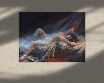 Nackt liegend, Delphin Enjolras (1857-1945) von Atelier Liesjes