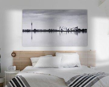 de windstilte in het Wormer- en Jisperveld creëert een prachtig spiegelbeeld op het wateroppervlak van Studio de Waay