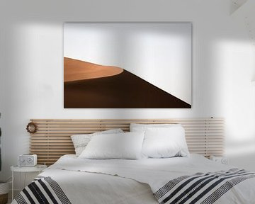 Zandduin bij zonsondergang in de Sahara van Jarno Dorst