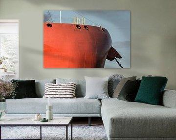 Les navires dans le port d'Amsterdam sur scheepskijkerhavenfotografie