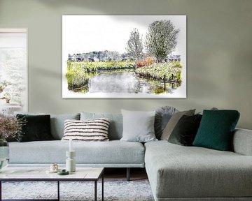 Mein schönes Land Brabant (Aquarell) von Art by Jeronimo