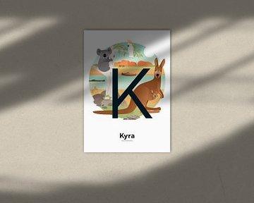 Affiche nominative Kyra sur Hannahland .