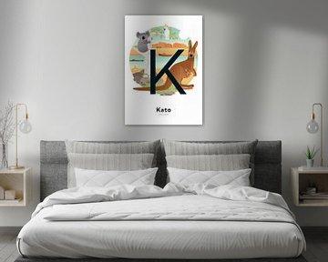 Affiche nominative Kato sur Hannahland .